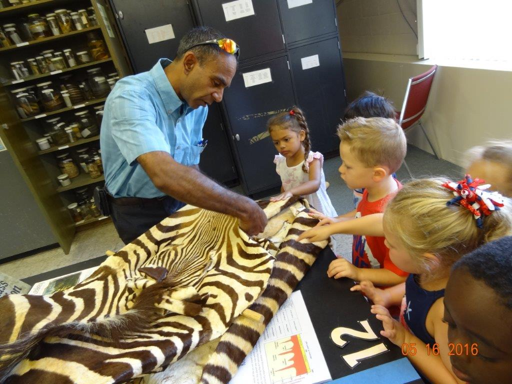 children visit the zoology lab