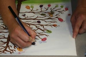 Fingerprint tree closeup