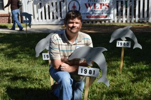 Jeremy Pollock and his dolphin